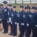 Eden av kadetter av kadettgrupperna i den Kaluga regionen av Ryssland på 10 September 2016 Royaltyfri Foto