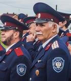 Eden av kadetter av kadettgrupperna i den Kaluga regionen av Ryssland på 10 September 2016 Arkivfoto