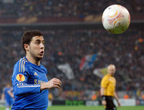 Eden Hazard av Chelsea i handling Arkivbilder