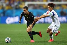 Eden Hazard e coupé du monde 2014 di Lee Chung-Yong Immagine Stock Libera da Diritti