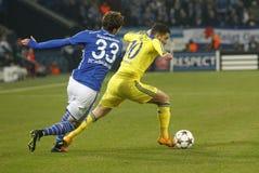 Eden Hazard FC Schalke v FC Chelsea 8eme Final Champion League Stock Photos