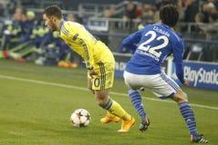 Eden Hazard FC Schalke v FC Chelsea 8eme Final Champion League Royalty Free Stock Photography