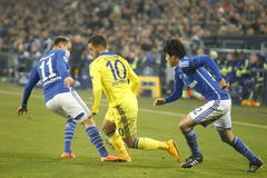 Eden Hazard FC Schalke v FC Chelsea 8eme Final Champion League Stock Photos