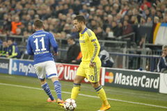 Eden Hazard FC Schalke v FC Chelsea 8eme Final Champion League Stock Image