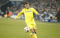Eden Hazard FC Schalke v FC Chelsea 8eme Final Champion League Royalty Free Stock Photos