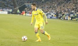 Eden Hazard FC Schalke v FC Chelsea 8eme Final Champion League Stock Images