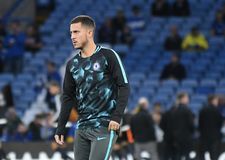 Eden Hazard. Football players pictured during the UEFA Champions League group C game between Chelsea and Qarabag on September 19, 2017 at Stamford Bridge Stadium Royalty Free Stock Photo