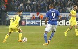 Eden Hazard and Kevin-Prince Boateng FC Schalke v FC Chelsea 8eme Final Champion League Stock Photography