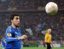 Eden Hazard van Chelsea in actie Stock Afbeeldingen