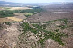 Eden Hot Springs. Aerial view of the Eden Hot Springs in Southeast Arizona Stock Photos