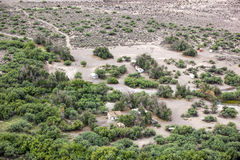Eden Hot Springs. Aerial view of the Eden Hot Springs in Southeast Arizona Royalty Free Stock Photography