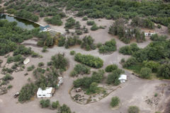 Eden Hot Springs. Aerial view of the Eden Hot Springs in Southeast Arizona Stock Photography