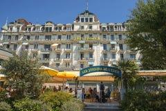 Eden pałac, Montreux, Jeziorny Genewa, Szwajcaria Obrazy Royalty Free