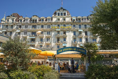 Eden Palace Montreux, sjöGenève, Schweiz Royaltyfria Bilder
