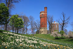 Eden Park Water Tower stock image