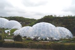 Eden Project Biodomes Cornwall Tom Wurl Royaltyfria Bilder