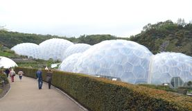 The Eden Project Biodomes Cornwall Tom Wurl Stock Photos
