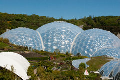 Eden Project Biomes mit Haube Stockfotos