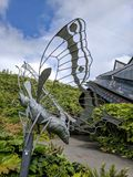 Eden project butterfly. Eden project sculpture Royalty Free Stock Photos