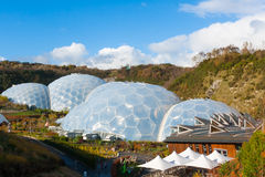 Eden Project Cornwall. Biomes at the Eden Project near St Austell Cornwall England UK Royalty Free Stock Images