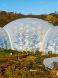 Eden Project Cornwall. Biomes at the Eden Project near St Austell Cornwall England UK Stock Photos