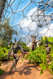 The Eden Project, Mediterranean Biome Sculptures. The Eden Project is a visitor attraction in Cornwall, England Royalty Free Stock Photography
