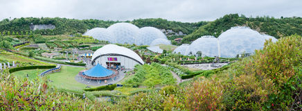 Eden Project - Panorama. Eden Project is situated in Cornwall, England Stock Image