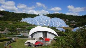 Eden Project rainforestkupol i St Austell Cornwall Fotografering för Bildbyråer