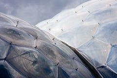 Eden-Projekt Biome, Cornwall Stockbilder
