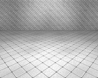 Eden room. 3d room with white floor and wall Stock Image