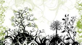 eden trädgård stock illustrationer