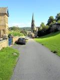Edensor, Derbyshire. Stock Image