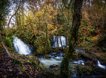 Edenvale Waterfall. Waterfall and river at Edenvale, County Wexford, Ireland Stock Photos