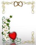 Edera ed orchidee che Wedding invito o biglietto di S. Valentino Fotografie Stock Libere da Diritti