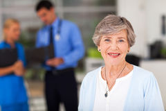 Ederly woman doctor's Royalty Free Stock Image