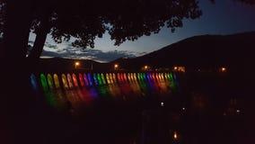 Edersee桥梁色的彩虹 免版税库存图片