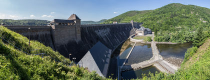 Edersee dam germany high resolution panoramic picture. The edersee dam germany high resolution panoramic picture Stock Photography