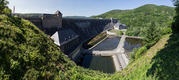 Edersee dam germany high resolution panoramic picture Stock Photography