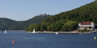 Edersee lake germany Royalty Free Stock Image
