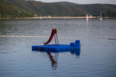 Edersee lake germany with bathing area Royalty Free Stock Photography