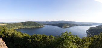 Edersee lake germany high resolution panoramic picture Royalty Free Stock Images