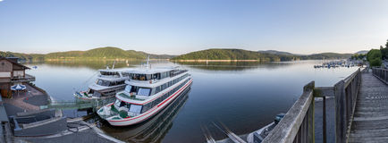 Edersee lake germany high resolution panoramic picture Royalty Free Stock Image