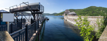 Edersee lake germany high resolution panoramic picture Stock Images