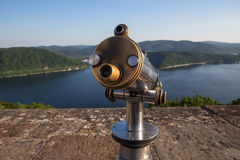 Edersee lake germany with telescope from castle waldeck Stock Images