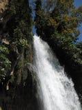 Edessa瀑布和植被 库存照片