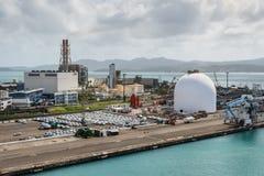 EDF - Electricite de França - central elétrica no Fort de France, março imagens de stock royalty free