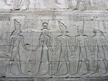 Edfu Tempel, Ägypten Stockbild