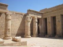 Edfu Tempel in Ägypten lizenzfreie stockfotografie