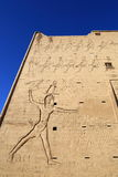 Edfu Tempel in Ägypten Stockfotos