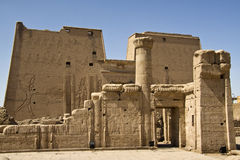 Edfu temple. Details of Egyptian art. An example of the art of the pharaohs Royalty Free Stock Image